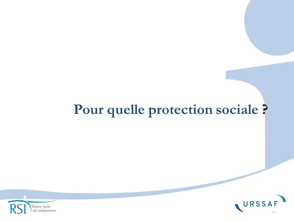 Pour quelle protection sociale