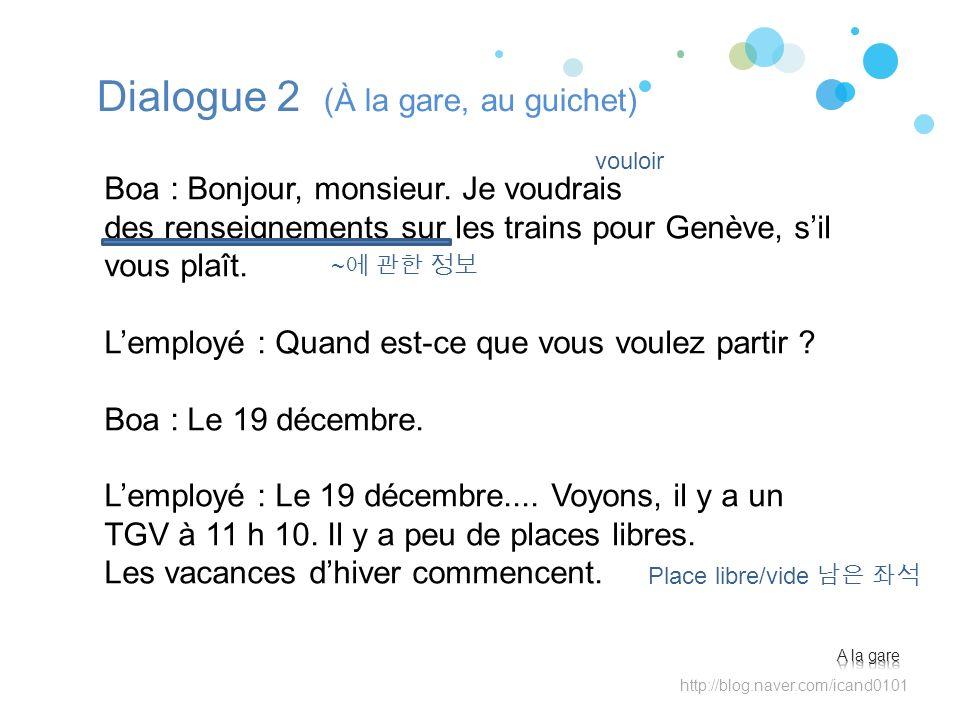 Dialogue 2 (À la gare, au guichet)