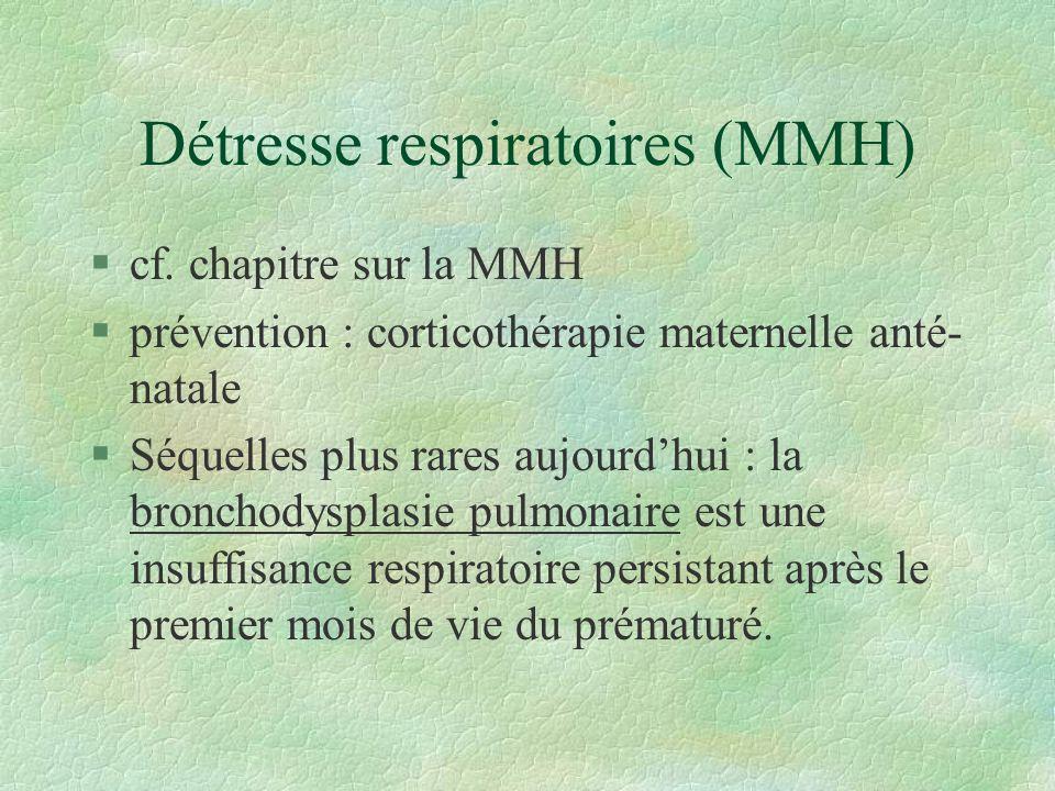 Détresse respiratoires (MMH)