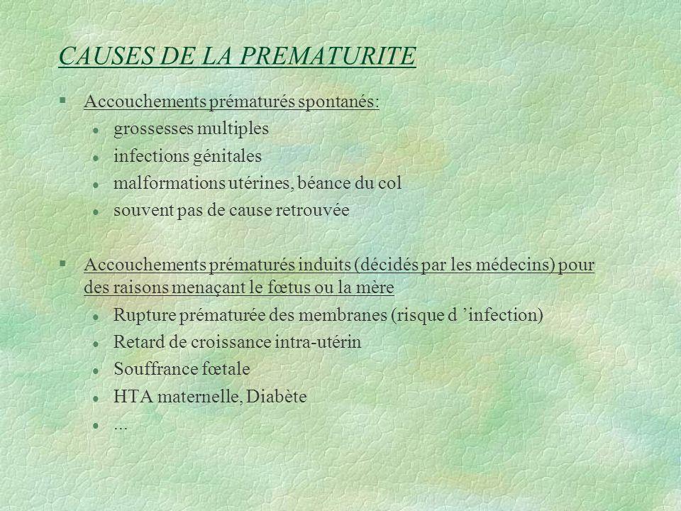CAUSES DE LA PREMATURITE