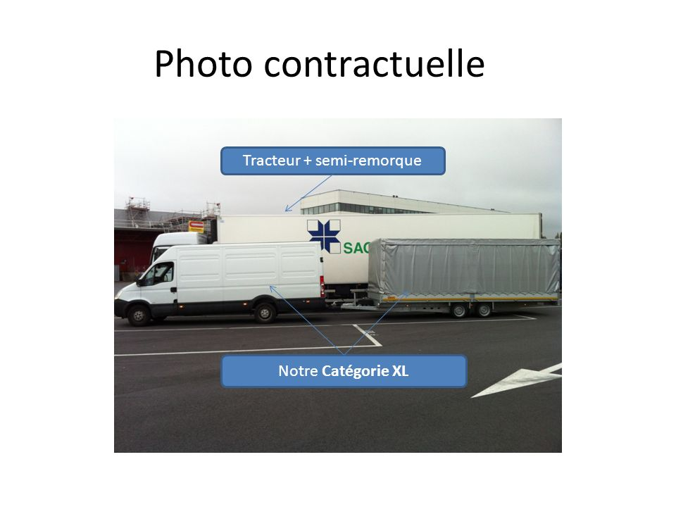 Tracteur + semi-remorque