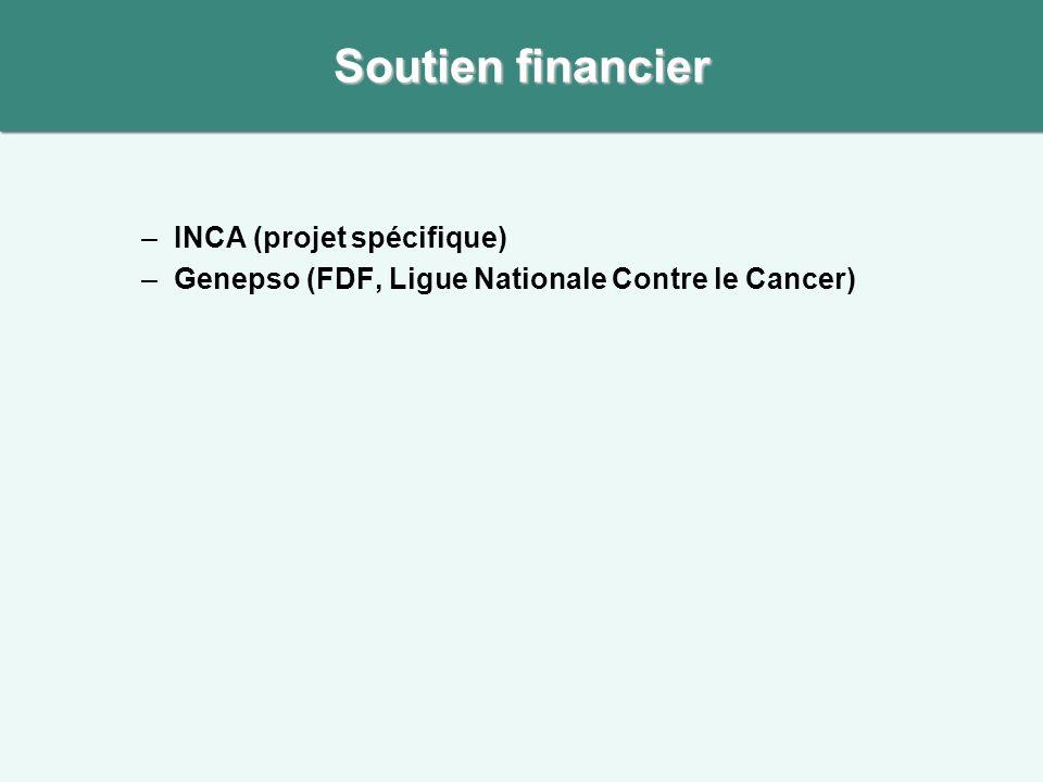 Soutien financier INCA (projet spécifique)