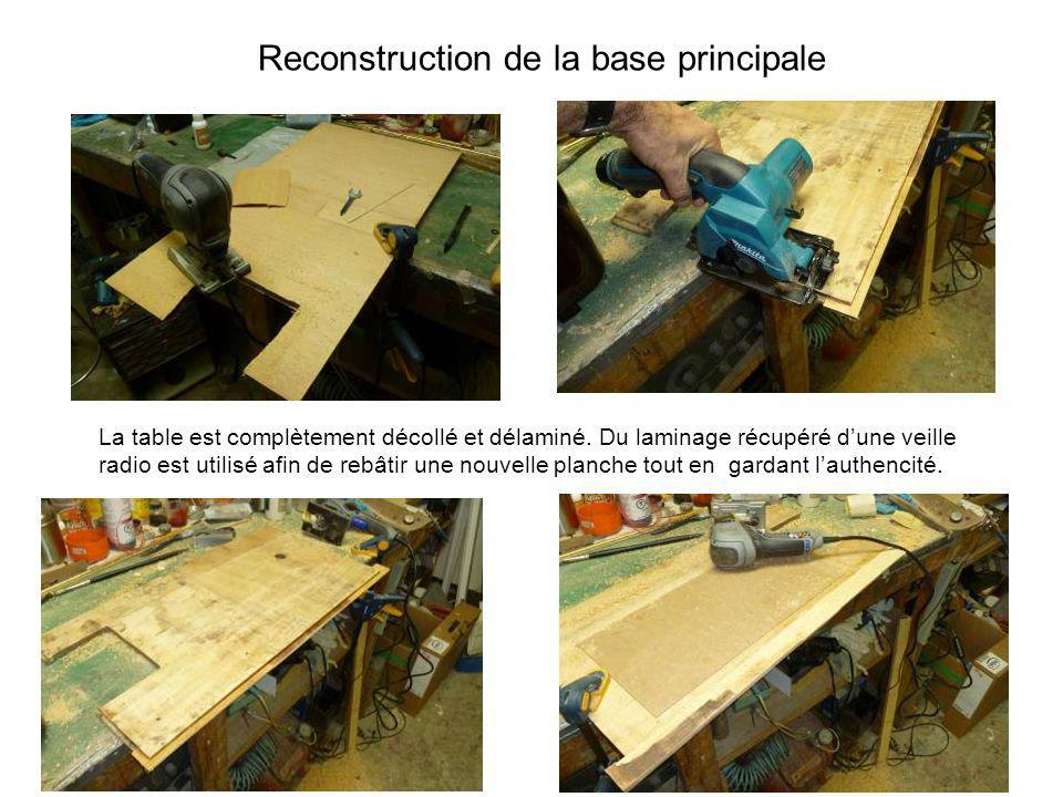 Reconstruction de la base principale