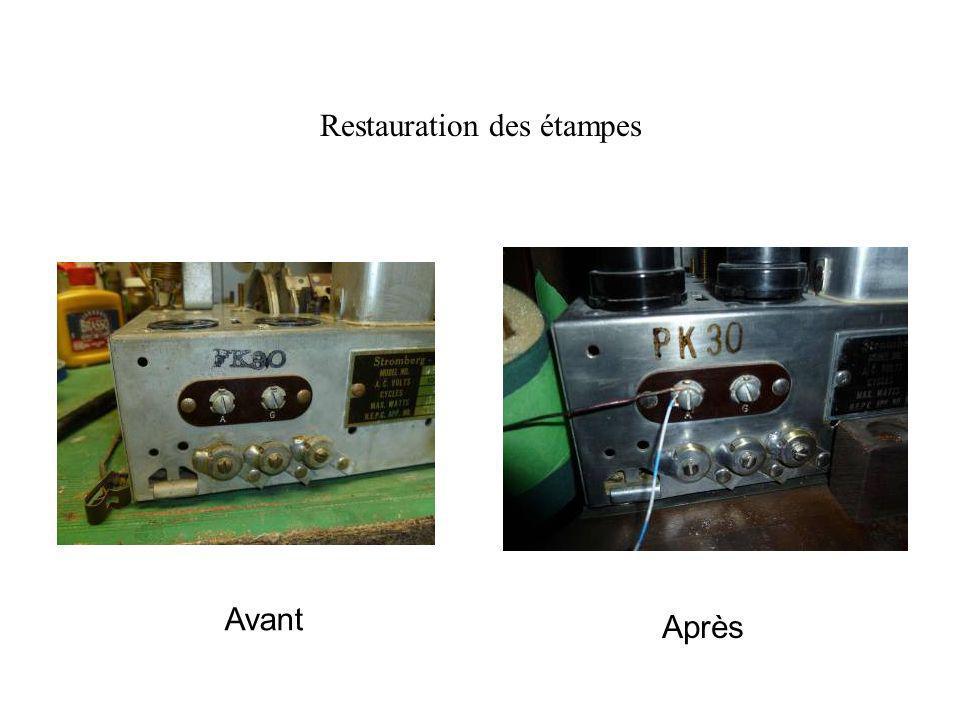 Restauration des étampes