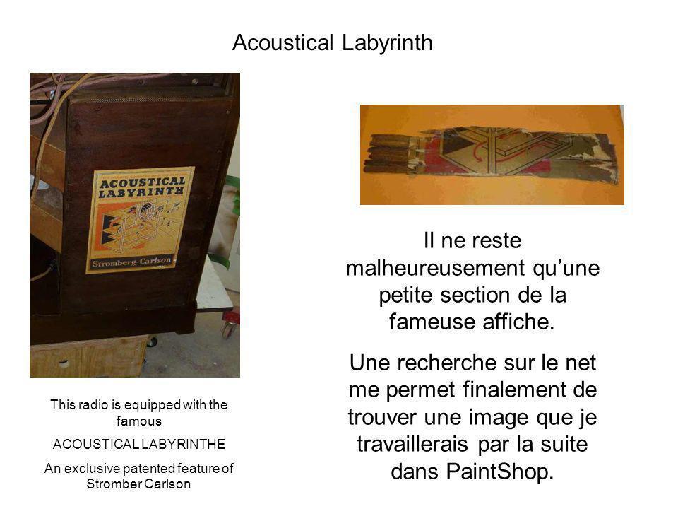Acoustical Labyrinth Il ne reste malheureusement qu'une petite section de la fameuse affiche.