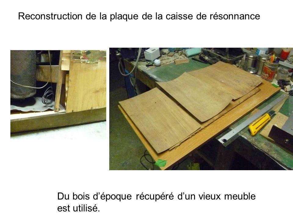 Reconstruction de la plaque de la caisse de résonnance