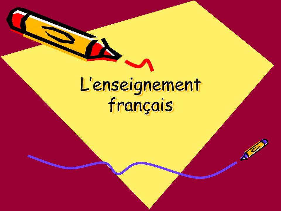 L'enseignement français