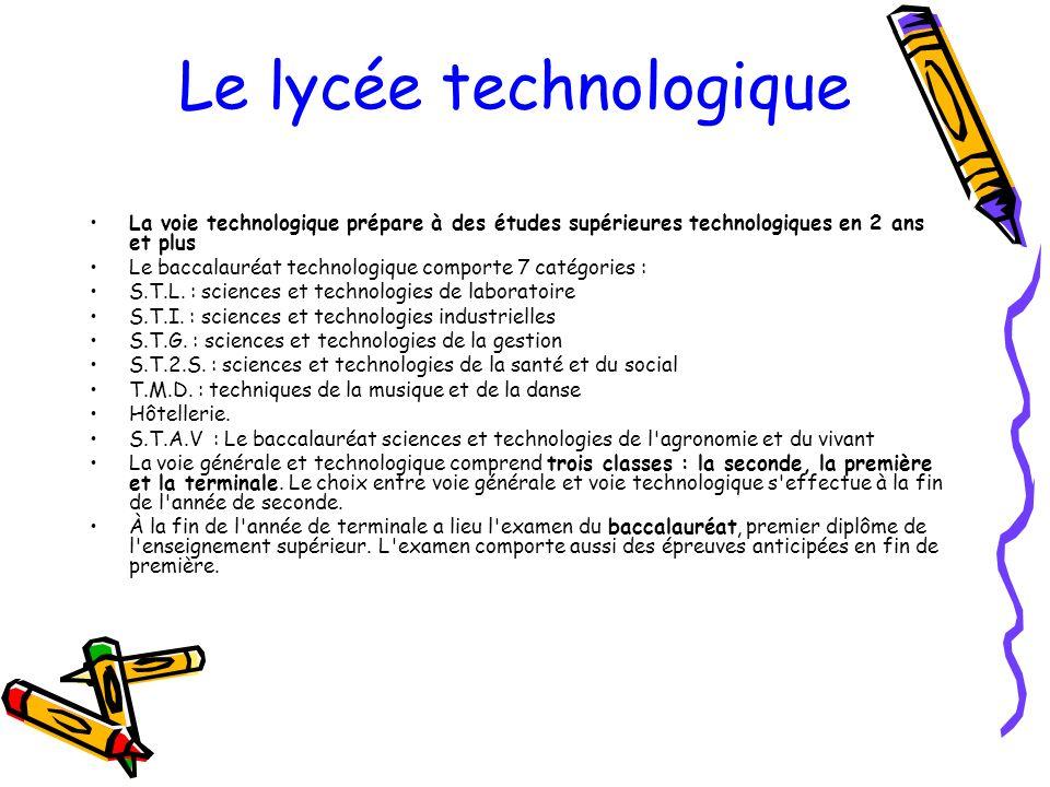Le lycée technologique