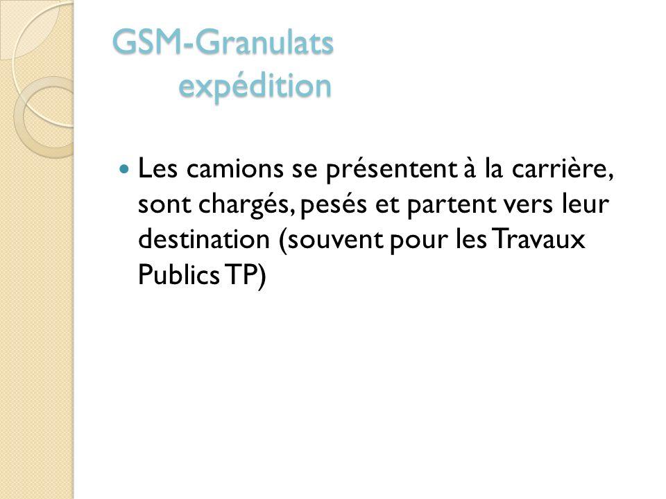 GSM-Granulats expédition