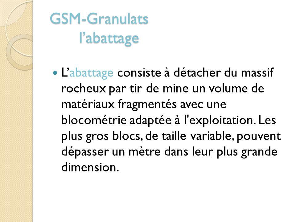 GSM-Granulats l'abattage