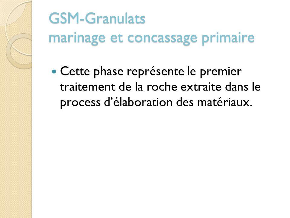 GSM-Granulats marinage et concassage primaire