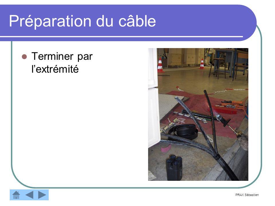 Préparation du câble Terminer par l'extrémité PRAX Sébastien