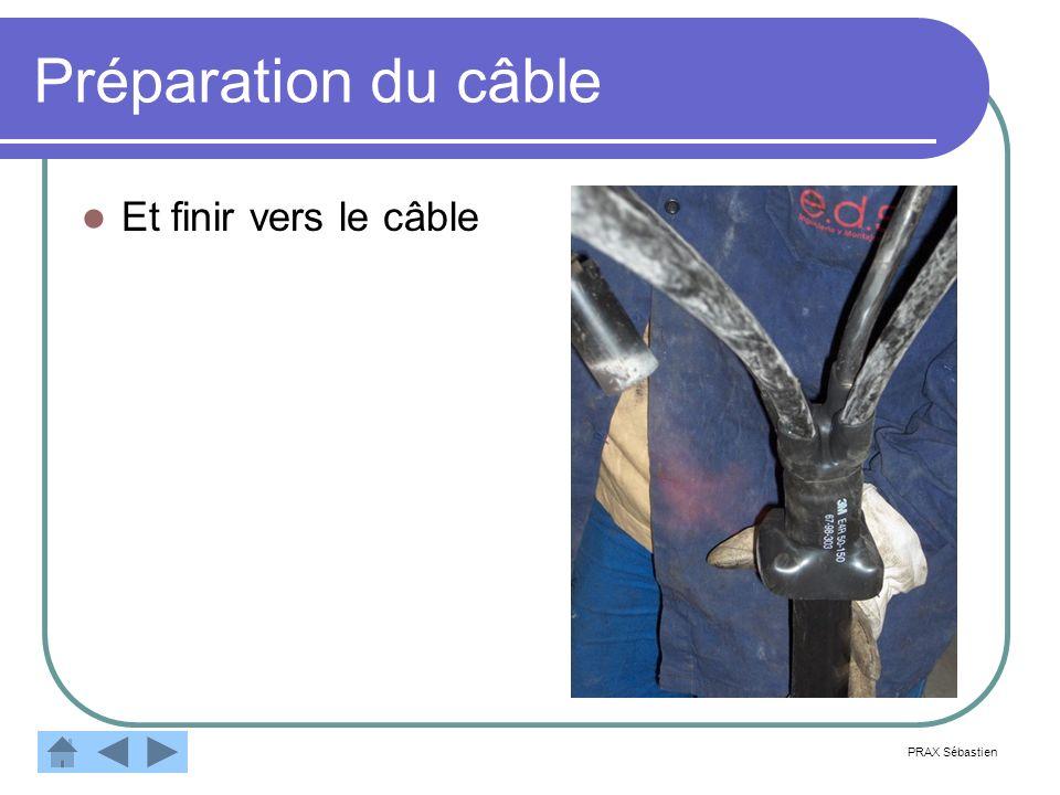 Préparation du câble Et finir vers le câble PRAX Sébastien