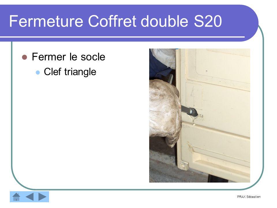 Fermeture Coffret double S20