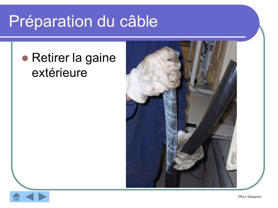 Préparation du câble Retirer la gaine extérieure PRAX Sébastien