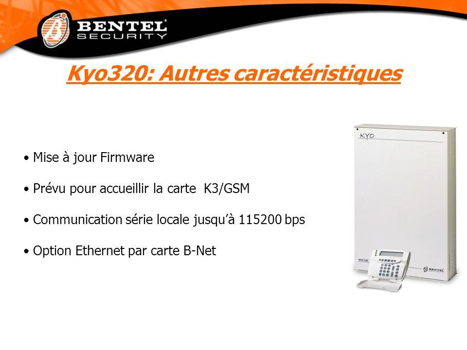 Kyo320: Autres caractéristiques