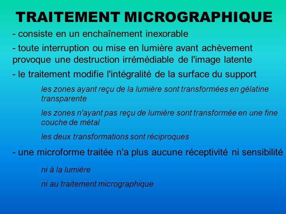 TRAITEMENT MICROGRAPHIQUE