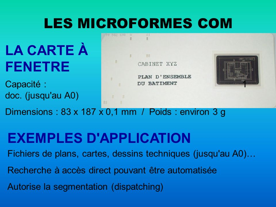 EXEMPLES D APPLICATION