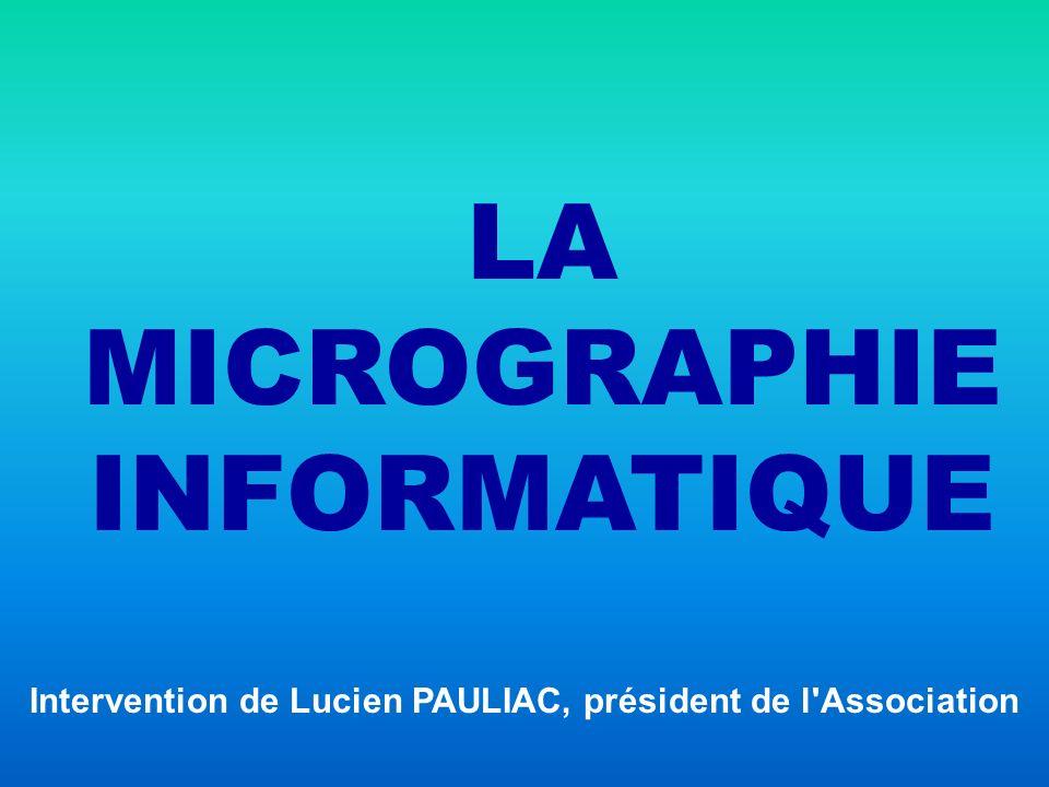 Intervention de Lucien PAULIAC, président de l Association