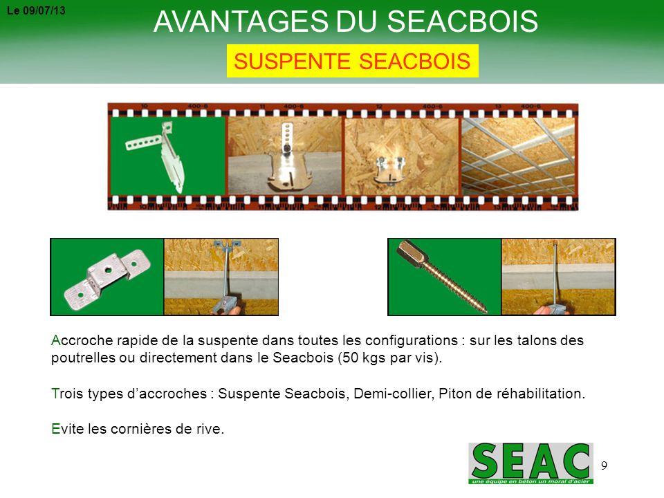 AVANTAGES DU SEACBOIS SUSPENTE SEACBOIS