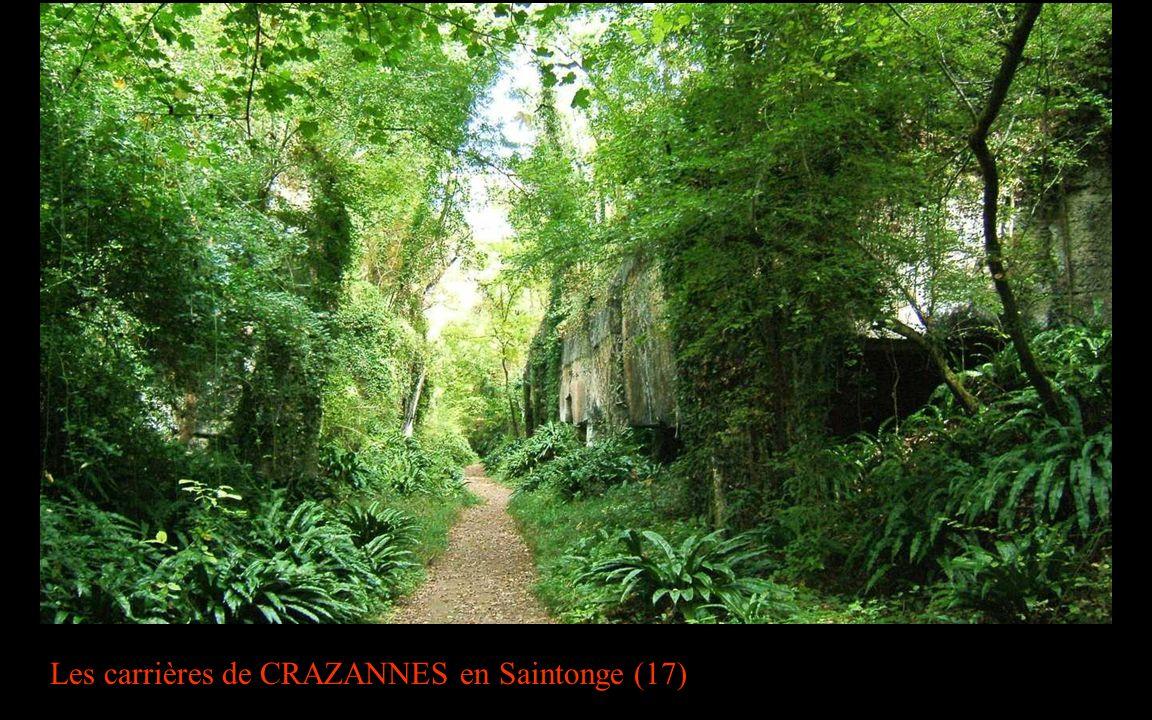 Les carrières de CRAZANNES en Saintonge (17)