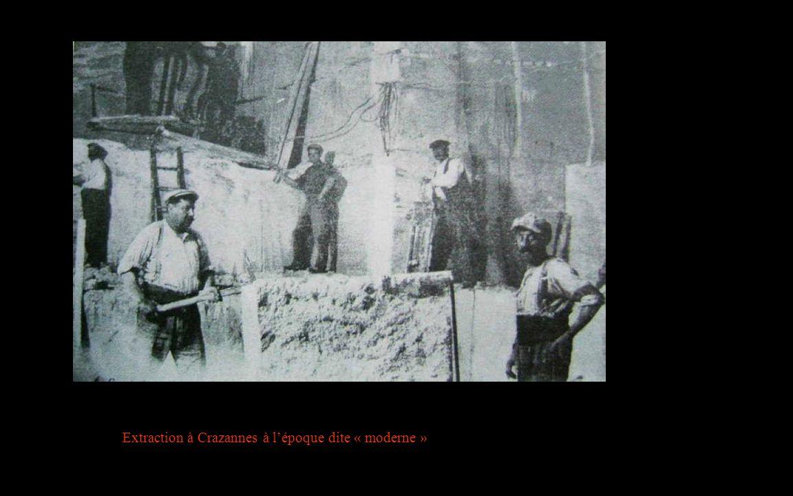 Extraction à Crazannes à l'époque dite « moderne »