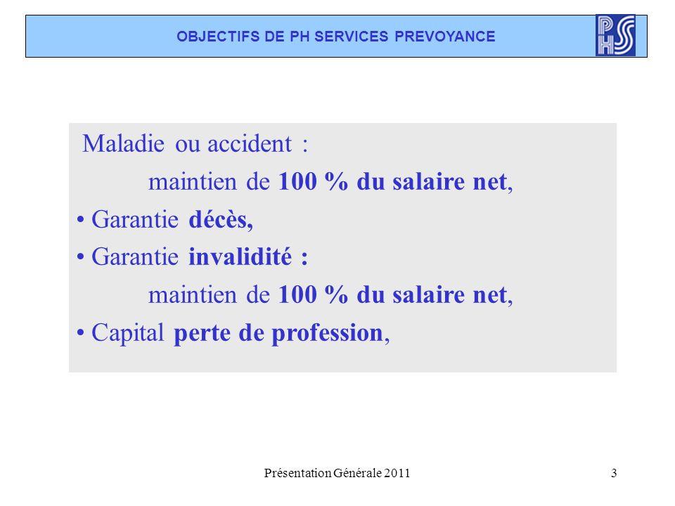 OBJECTIFS DE PH SERVICES PREVOYANCE