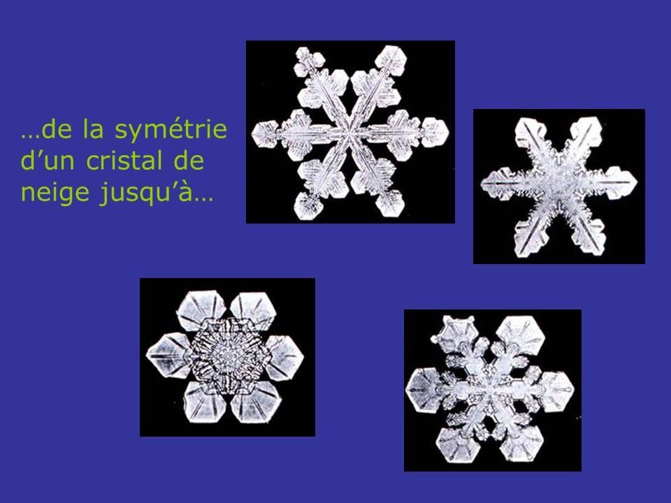 …de la symétrie d'un cristal de neige jusqu'à…