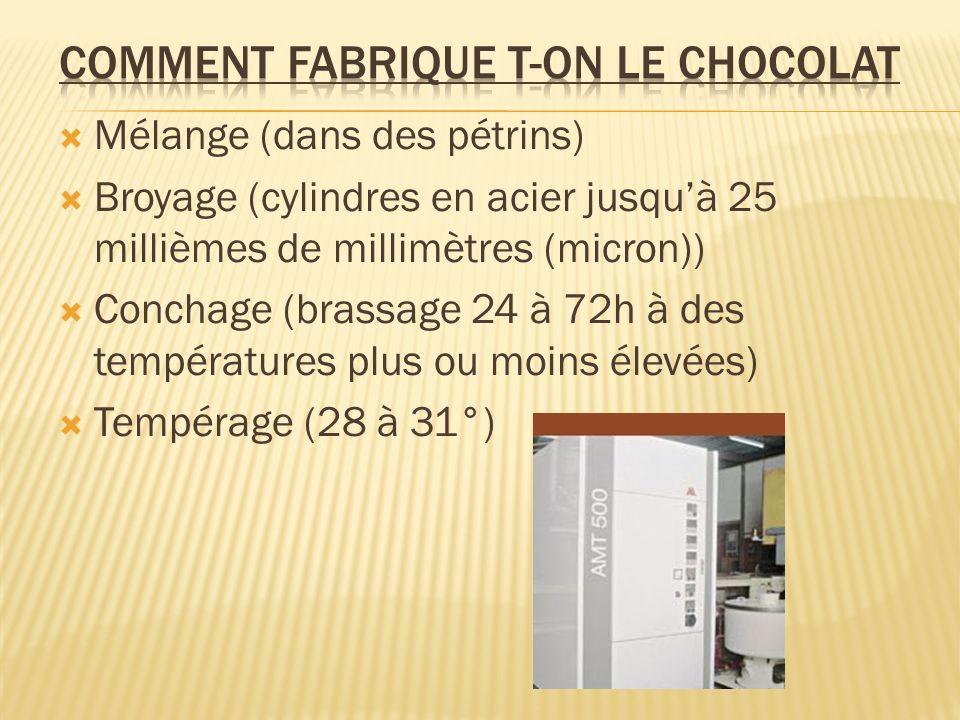Comment fabrique t-on le chocolat