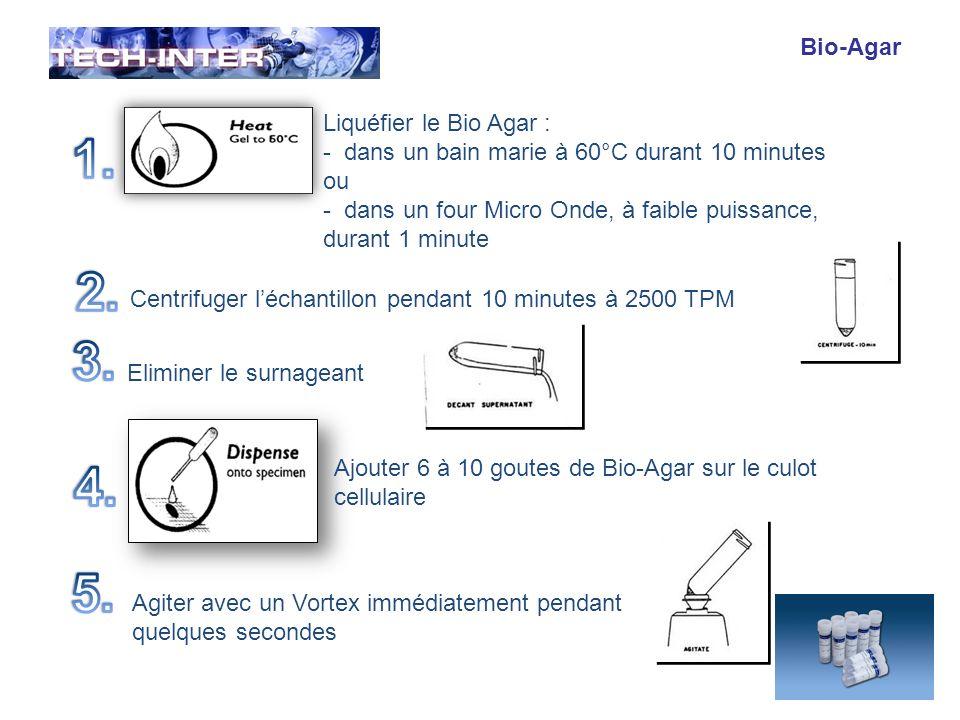 1. 2. 3. 4. 5. Bio-Agar Liquéfier le Bio Agar :