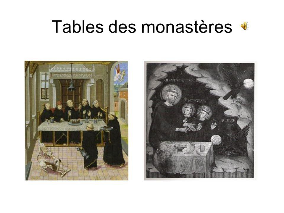 Tables des monastères
