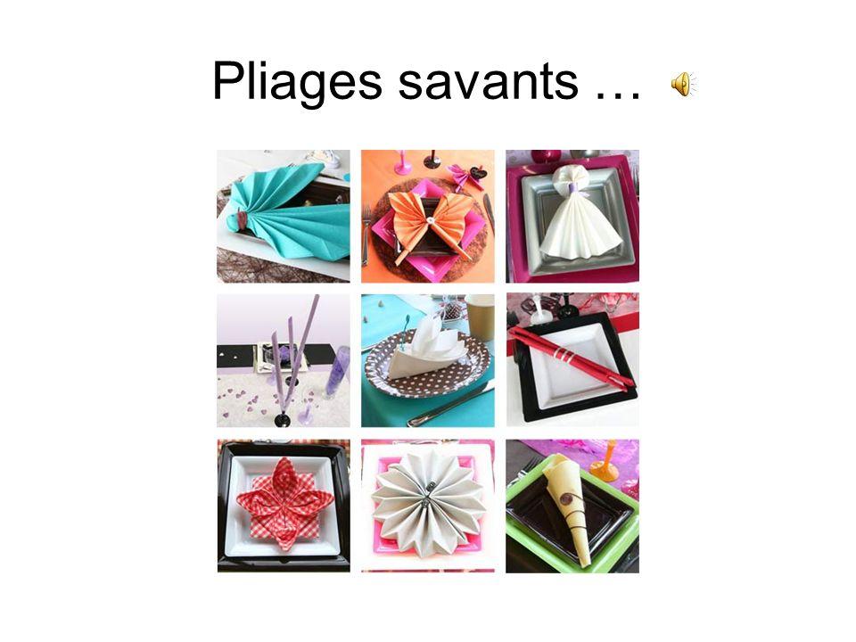 Pliages savants …