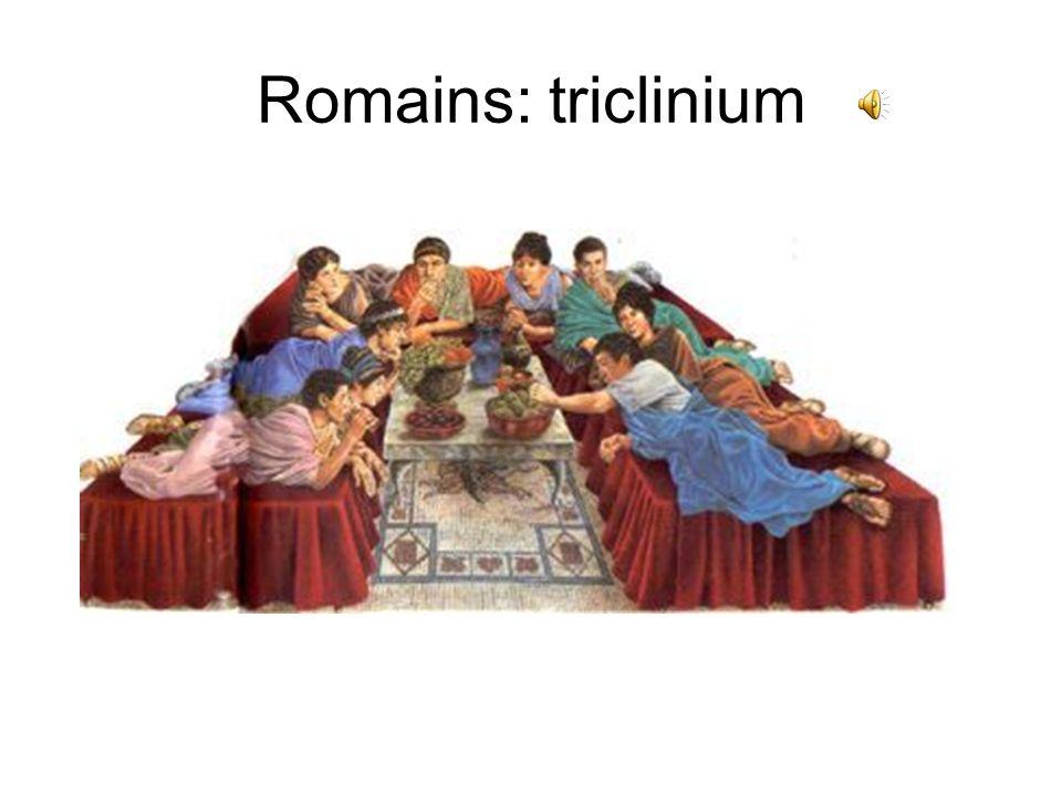 Romains: triclinium