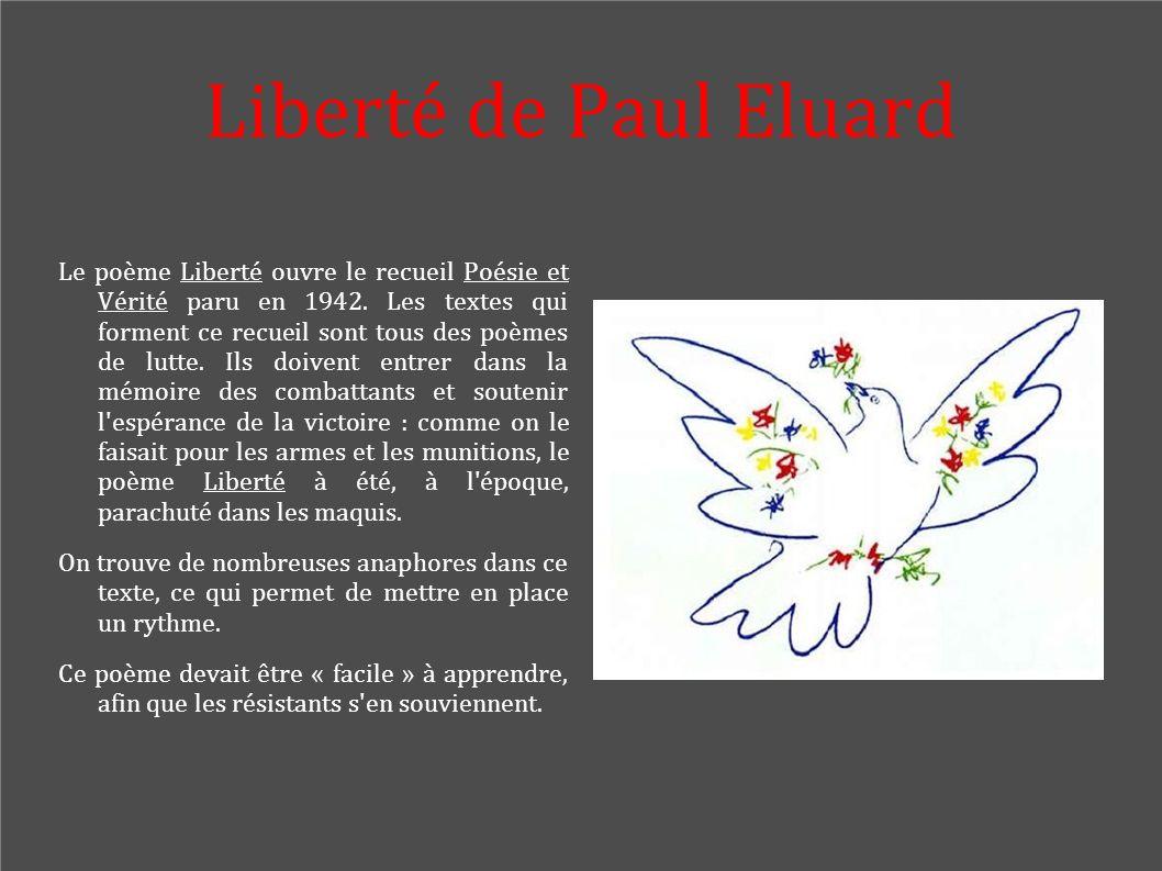 Liberté de Paul Eluard