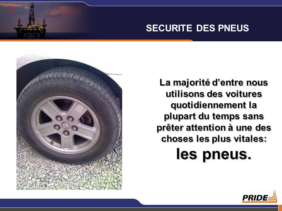 1 SECURITE DES PNEUS.