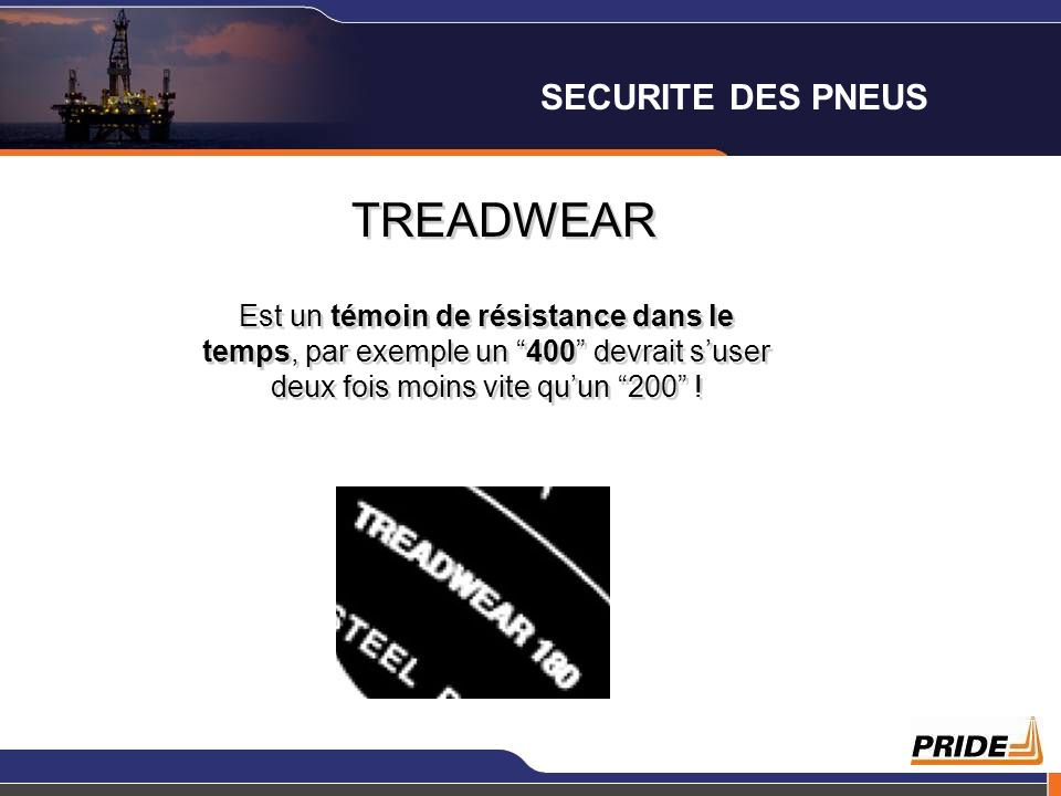 TREADWEAR SECURITE DES PNEUS