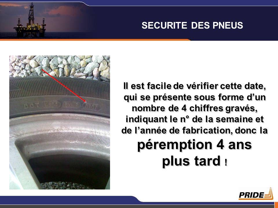 SECURITE DES PNEUS