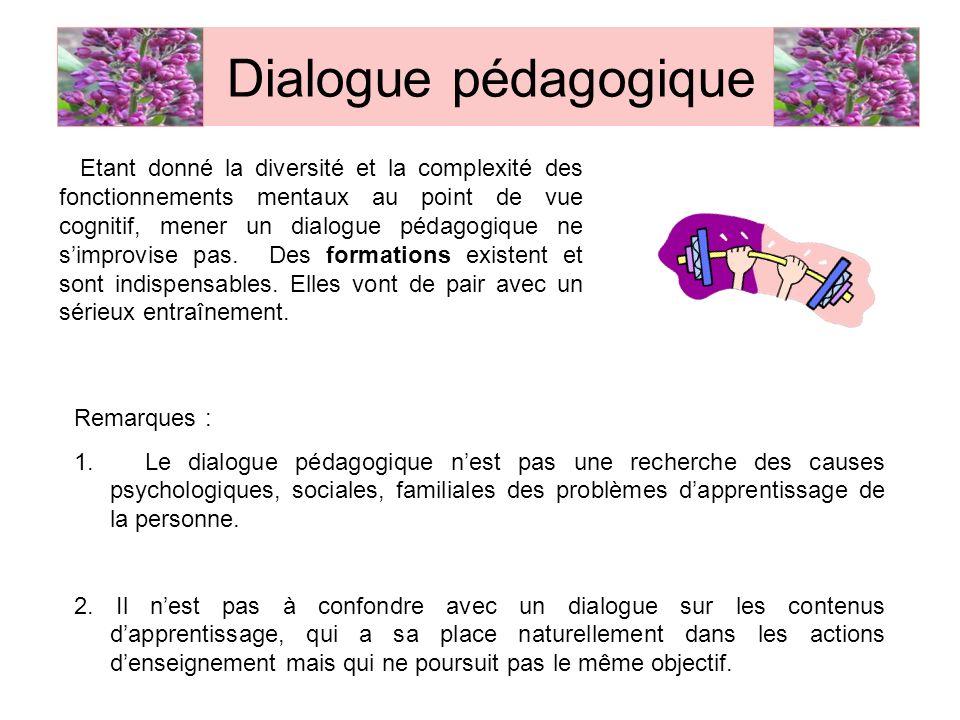 Dialogue pédagogique