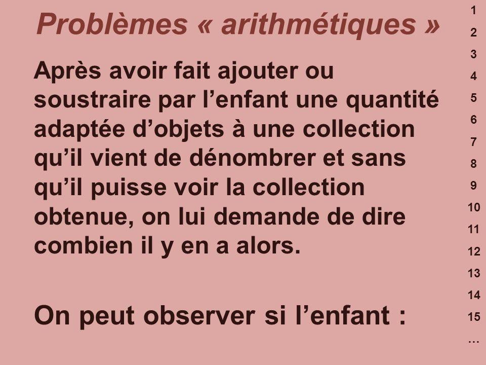 Problèmes « arithmétiques »