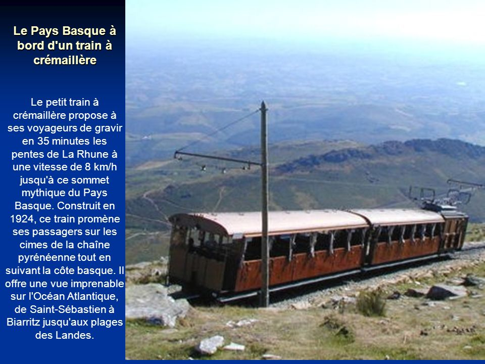 Le Pays Basque à bord d un train à crémaillère