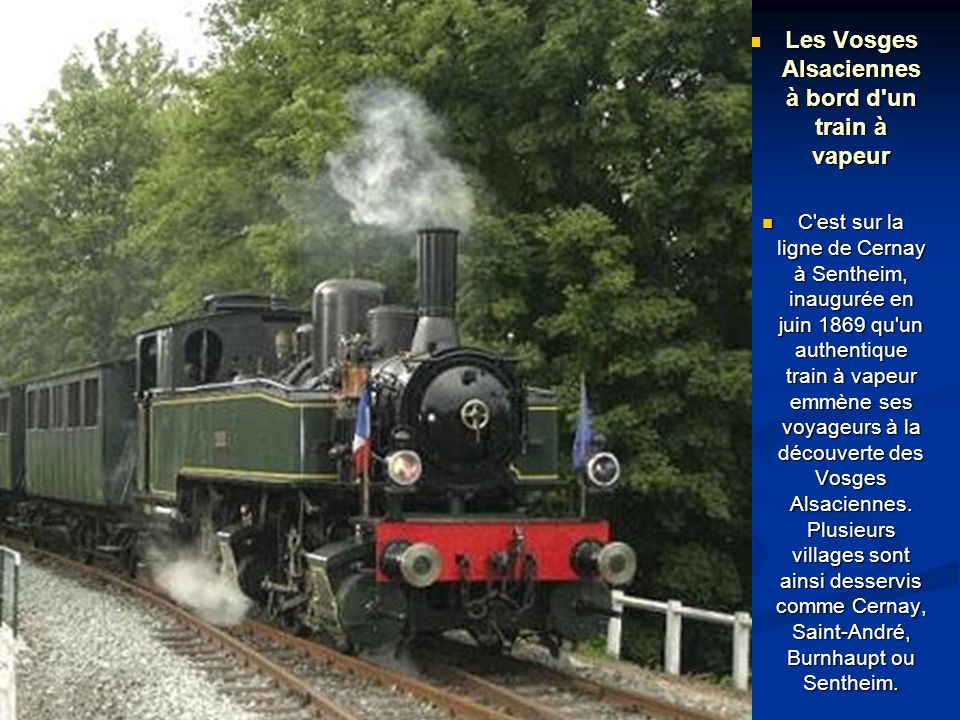 Les Vosges Alsaciennes à bord d un train à vapeur