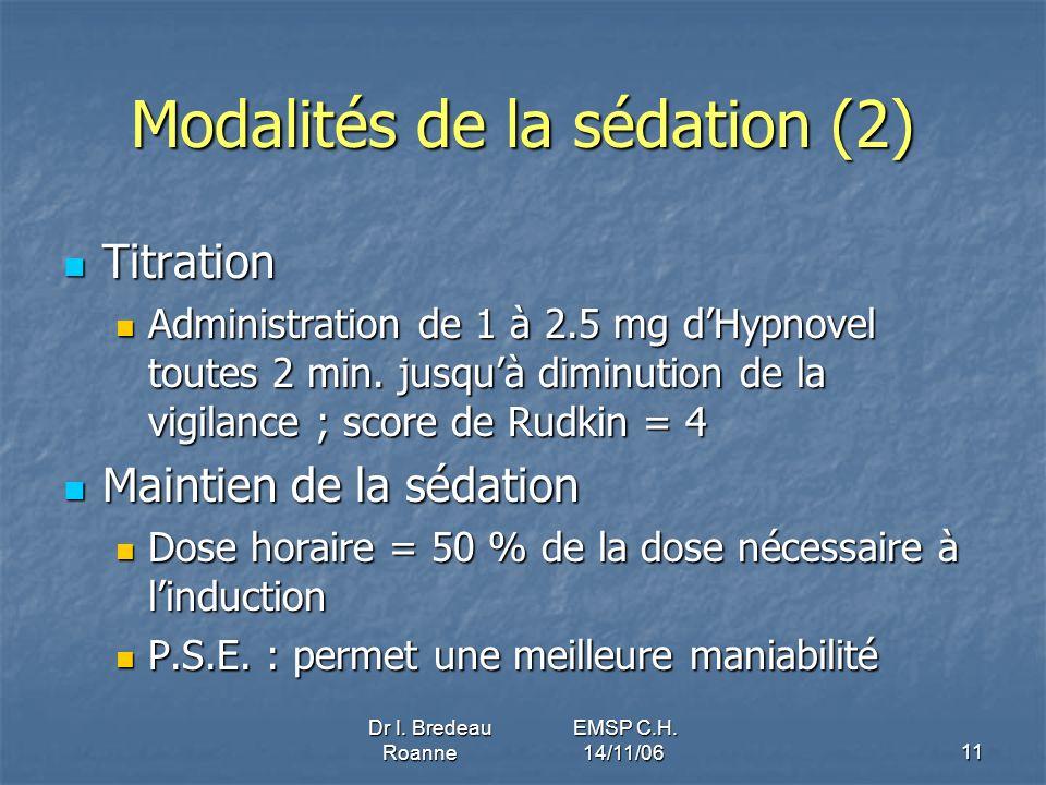 Modalités de la sédation (2)