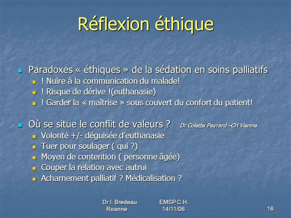Dr I. Bredeau EMSP C.H. Roanne 14/11/06