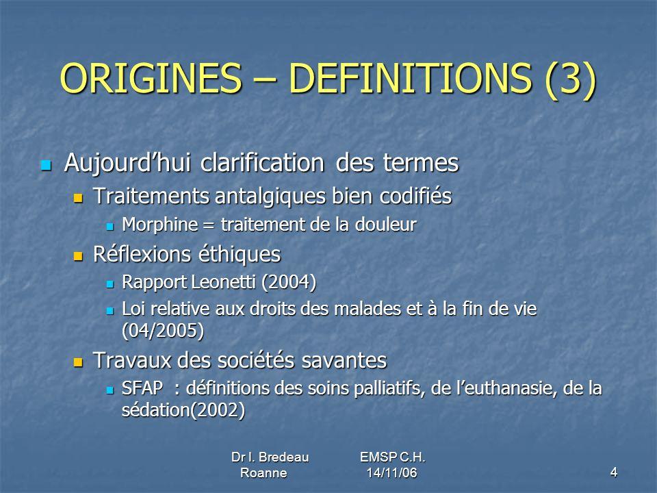 ORIGINES – DEFINITIONS (3)