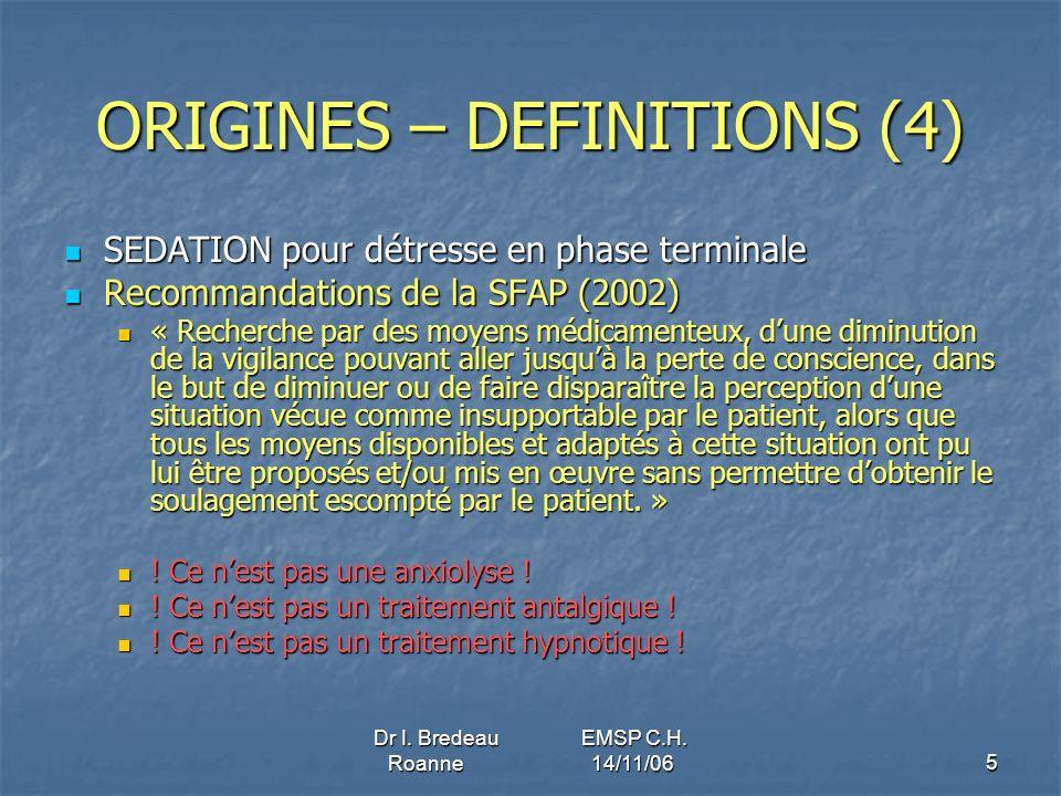 ORIGINES – DEFINITIONS (4)