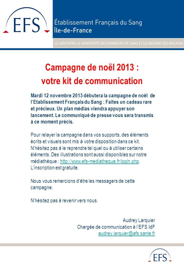 Campagne de noël 2013 : votre kit de communication