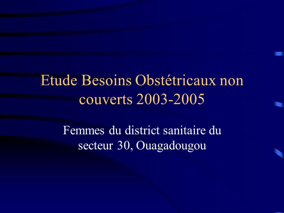 Etude Besoins Obstétricaux non couverts 2003-2005