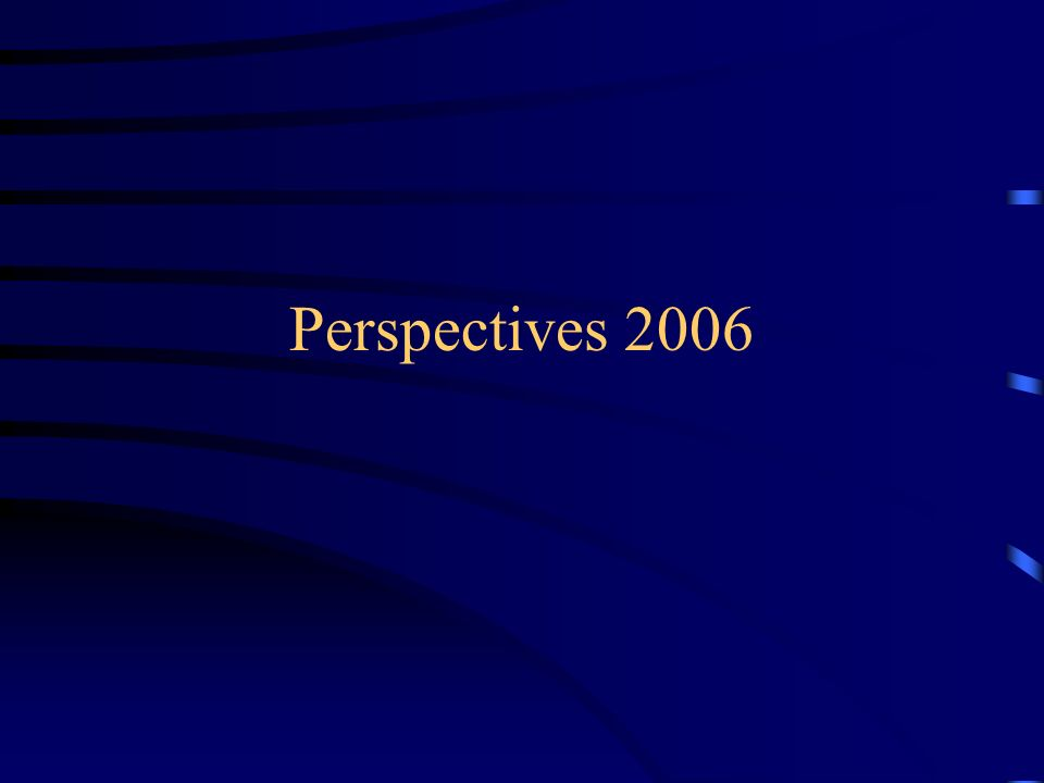 Perspectives 2006