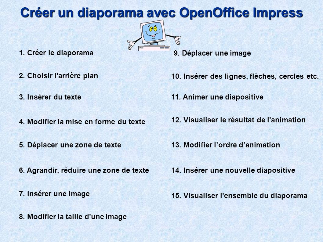 Créer un diaporama avec OpenOffice Impress