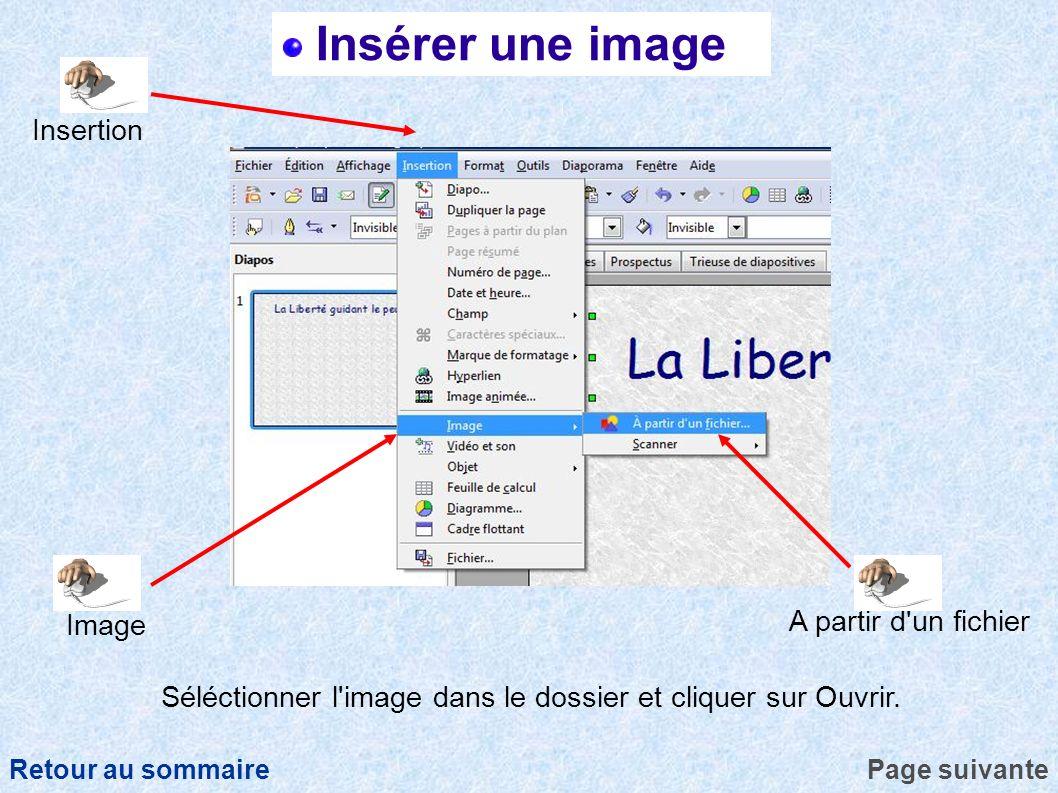 Insérer une image Insertion A partir d un fichier Image